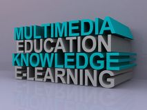 Multimedia education sign Stock Photos