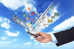 Multimedia elegantes e Internet del teléfono Imagenes de archivo
