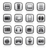 Multimedia en technologiepictogrammen Royalty-vrije Stock Afbeelding