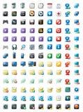 Multimedia en Webpictogrammen Stock Fotografie