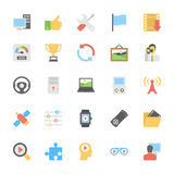 Multimedia Flat Colored Icons 6 Royalty Free Stock Photo