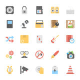 Multimedia Flat Colored Icons 5 Royalty Free Stock Image