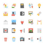 Multimedia Flat Colored Icons 10 Royalty Free Stock Photos