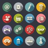Multimedia flat icon set Royalty Free Stock Photography