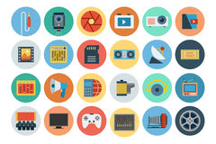 Multimedia Flat Icons 6 Stock Images