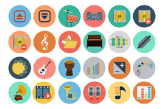 Multimedia Flat Icons 4 Royalty Free Stock Photo