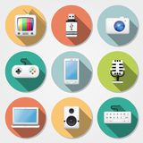 Multimedia flat icons Royalty Free Stock Image