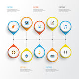 Multimedia Flat Icons Set. Collection Of Quiet, Pianoforte, Rhythm And Other Elements. Also Includes Symbols Such As. Multimedia Flat Icons Set. Collection Of Stock Photography