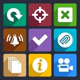 Multimedia flat icons set 5 Stock Images