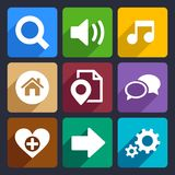 Multimedia flat icons set 4. Multimedia flat icons set for Web and Mobile Applications stock illustration