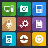 Multimedia flat icons set 9 Royalty Free Stock Image