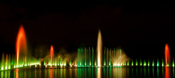 Multimedia fountain in Wroclaw Stock Photography
