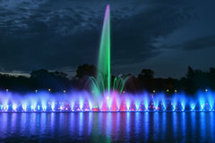 Multimedia fountain in Wroclaw Royalty Free Stock Images