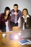 Multimedia-Geschäfts-Darstellung stockfotografie