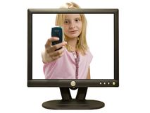 Multimedia Girl Royalty Free Stock Images