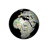 Multimedia globe Stock Photo