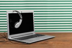 Multimedia Headphones Stock Photo