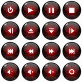 Multimedia icon/button set Royalty Free Stock Photos