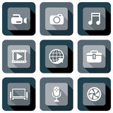Multimedia icon design set Stock Images