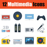 Multimedia  icon set Royalty Free Stock Image