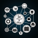 Multimedia icon set. Internet of things design. vector graphic Royalty Free Stock Image