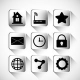 Multimedia icon set. Internet of things design. vector graphic Stock Photo