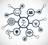 Multimedia icon set. Internet of things design. vector graphic Stock Photos