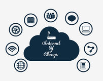 Multimedia icon set. Internet of things design. vector graphic Royalty Free Stock Photo