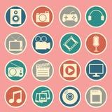 Multimedia icon Royalty Free Stock Image