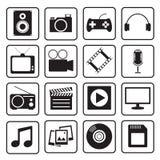 Multimedia icon Royalty Free Stock Photography