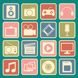 Multimedia icon Stock Photography