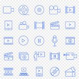 Multimedia Icon set. 25 Vector Icons Pack vector illustration