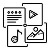 Multimedia icon vector royalty free illustration