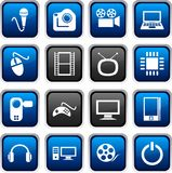Multimedia icons. Royalty Free Stock Photos