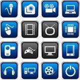 Multimedia icons. Royalty Free Stock Photos