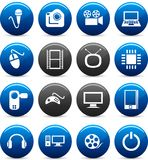 Multimedia icons. Stock Images