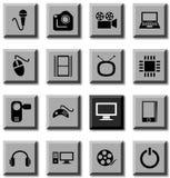 Multimedia icons. Royalty Free Stock Image