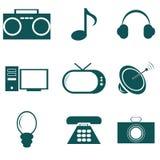 Multimedia icons Royalty Free Stock Image