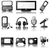 Multimedia icons stock illustration
