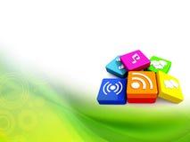 Multimedia icons Stock Photography