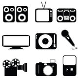 Multimedia icons Royalty Free Stock Images