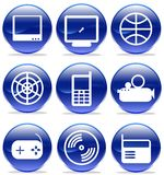 Multimedia icons, Royalty Free Stock Image