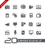 Multimedia Icons // Basics Royalty Free Stock Photography