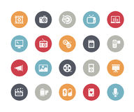 Multimedia Icons // Classics Series. Vector icons set for your web or presentation projects Royalty Free Stock Photos