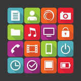 Multimedia icons Royalty Free Stock Photos