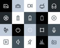 Multimedia icons. Flat Royalty Free Stock Photography