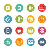 Multimedia Icons -- Fresh Colors Series Royalty Free Stock Images