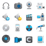 Multimedia Icons | Indigo 08. Professional icons for your website, application, or presentation Stock Illustration