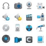 Multimedia Icons | Indigo 08 Royalty Free Stock Image