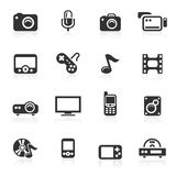 Multimedia Icons - minimo series. Multimedia vector icons set isolated over white background - minimo series Royalty Free Stock Images